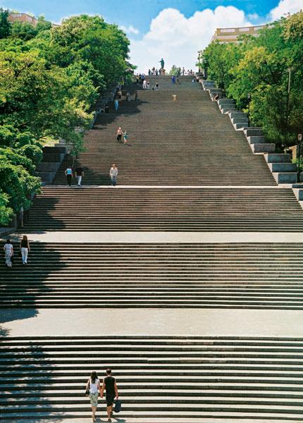 лестница и город